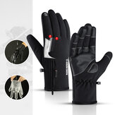 Nuevo al aire libre Impermeable Guantes Quarter Zipper Touch Screen Men y Mujer Riding Warm Sports Senderismo Esquí Plus Engrosamiento