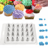 24 STKS Icing Leidingen Nozzle Tips Cake Sugarcraft Pastry Decor Bakken Tools Kit