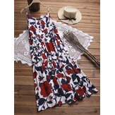 Floral Printed Spaghetti Straps Summer Dresses