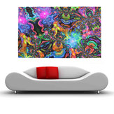 100cmx60cm Trippy psicodélico Art Silk Cloth Poster Photo Fabric Home Decor