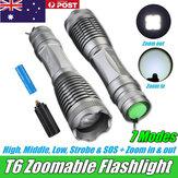 Elfeland T6 Recarregável Lanterna Tocha Lâmpada Luz Zoomable Tático