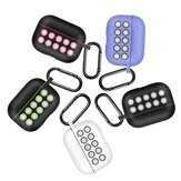 Bakeey Luxury Silicone Shockproof Dirtproof Earphone Storage Case with Keychain for Apple Airpods Pro 2019