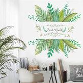 70x50cm feuilles vertes pvc autocollant mural chambre décor mural fond bricolage sticker