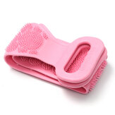 68cm Silicone Double-Sided Back Scrubber Comfortable Skin-Friendly Body Massage Manual Massager