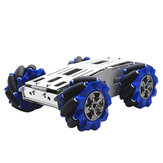 D-40 DIY Intelligent Aluminous RC Robot Base de châssis de voiture avec 103mm Omni Wheels DC 12V Motor