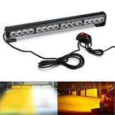 18 Inch 16LED Emergency Traffic Advisor Flash Strobe Light Bar Waarschuwingslamp Wit + oranje kleur met schakelaar