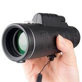 TelescopiomonoculardealtadefiniciónZoom 40X60 con militar trípode Cámara Clip para teléfono móvil