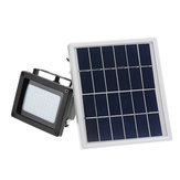 400LM 54 LED Solar Sensor Flood Light Afstandsbediening Outdoor Beveiligingslamp 2200 mAh IP65 Waterdicht Licht