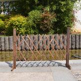 सजावट पोर्टेबल बाड़ लकड़ी के स्क्रीन गेट पालतू कुत्ते Patio गार्डन लॉन बैरियर ~ का विस्तार
