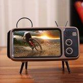 Bakeey Mini Retro TV Шаблон Настольный мобильный телефон Stand Holder Ленивый кронштейн, совместимый с мобильным телефоном от 4,7 до 5,5 дюймов