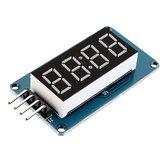 5 sztuk TM1637 4-bitowy moduł cyfrowego wyświetlacza LED 7 segmentów 0,36 cala Rurka anodowa CZERWONA Cztery szeregowe płyty sterownika dla