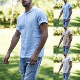 Herren Kapuzenpullover Baggy Kurzarm T-Shirts Top Plain Sport Gym Kausal T-Shirt Top S-5XL