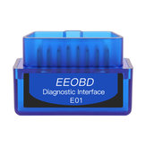 EEOBD E01 ELM327 BT3.0 bluetooth Diagnostic Interface Tool OBD2 Scanner Fault Code Reader for 12V Car