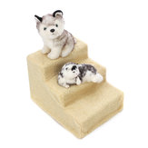 3 Steps Dog Cat Pet Puppy Plastic Stairs Soft Stairs Steps Ramp & Washable Stairs Decorations