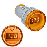3 stks Geel 22 MM AD16 AD16-22DSV Type AC 60-500 V Mini Voltage Meter LED Digitale Display AC Voltmeter Indicator Licht / Pilot Lamp 110 V 220 V