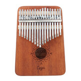 Cega 17 Key Mahogany Kalimbas Thumb Piano Finger Percussion Nordic Style with Tuning Hammer