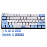 72 Keys Whale Keycap Set OEM Profile PBT Sublimation Keycaps for Mechanical Keyboard
