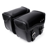 PU Leather Motorcycle Saddlebags Side Luggage Pannier Tool Storage Bag