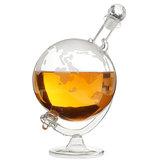 1L Whisky World Globe Decantador de Cristal de Vidro Licor Destilado Garrafas de Presente
