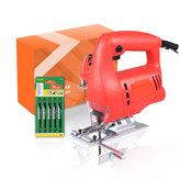 800W Electric Jigsaw Wood Jig Saw Cutter Cutting Woodworking With 5 Saw Blades