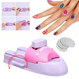 Nagelkunst Printer Patroonafdrukken Manicure Machinegereedschappen Kit + DIY Patroon Stamper