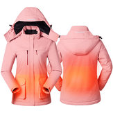 Women Battery Charging Electric USB Heating Coats Outdoor Winter Body Warmer Coat