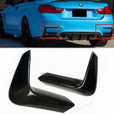 Karbon Fiber Arka Tampon Köşe Valance Kapak BMW F80 M3 F82 F83 M4 2015-2018
