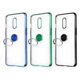 Bakeey Shockproof Plating With Ring Holder Hard PC Back Cover Protective Case for OnePlus 7