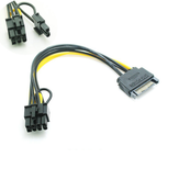 20cm 15Pin SATA Male to 8Pin Female PCI-E Graphics Card SATA Power Cable Splitter Cable