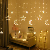 2.5M Connettore USB 3.5M LED Moon Star Curtain Fairy Ins Christmas String Light Camera da letto Decorazioni romantiche