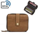 RFID Männer echtes Leder 15 Kartensteckplatz Kartenhalter Brieftasche
