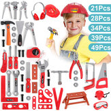 Childrens Tools Kit Children Kids Boy Role Play Toy Builder Game Hard Case Box