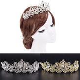 Strass Barock Brautkrone Tiara Hochzeit Stirnband Haar Kopfschmuck Flower King Prom