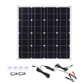 150W 18V Mono Solar Panel Dual USB 12V/5V DC Monocrystalline Solar Charger For Car RV Boat Battery Charger Waterproof