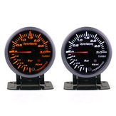 12V 0-3Bar 2.3 Inch LED Pointer Turbo Boost Pressure Gauge Bar Meter Black Vacuum Press Meter