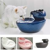 Pet Собака Кот Bowl Fountain Smart Feeder Автоматический дозатор воды Керамический Питьевая вода