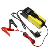Intelligent LCD 4.5-100AH Output 6V/2A 12V/4A Car Motorcycle Automatic Pulse Battery Charger