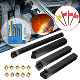 4pcs SCLCR/L SCMCN 12mm Lathe Boring Bar Turning Tool Holder With 10pcs CCMT09T304 Carbide Inserts