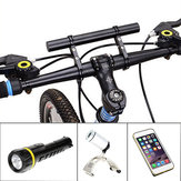 Black Bike Flashlight Holder Handle Extender Mount Bicycle Bracket Accessories
