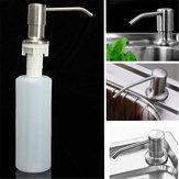 350 ml keuken badkamer gootsteen vloeibare zeepdispenser geborsteld nikkel hoofd