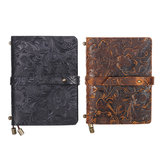 India Handmade Notebook Medium Embossed Stitched Leather Diary Notebook Journal For School Office Supplies