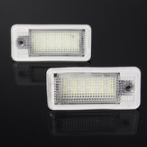 AMBOTHER LED License Plate Lights White 2PCS For Audi A3 A4 A5 A6 Q7