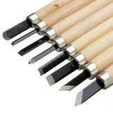 3/8/12 pz Scalpelli per intaglio del legno Artigianato Taglierina Mano Lavorazione del legno Strumenti Per Incisione Scultura