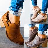 Tıknaz Topuk Kısa Ayak bileği Botlar