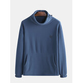 Mens Casual Polar Fleece Hoher Kragen Dickes Warmes Sweatshirt