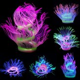 Aquarium Fish Tank Waterplant Decor Glowing Sea Anemone Coral Plant Ornament New