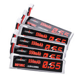 5Pcs URUAV 3.8V 550mAh 80C/160C 1S HV 4.35V PH2.0 Plug Lipo Battery for Emax Tinyhawk Kingkong/LDARC TINY