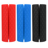 Green Eco-friendly Silicone Dumbbell Grips Silicone Barbell Grips Silicone Coarse Thick Grips Large