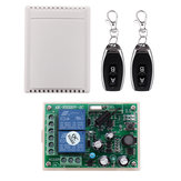 AC85-250V 315MHz/433MHz 2CH Channel Wireless Remote Control Switch with 2 Key Transmitter