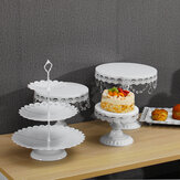 5PCS Cake Stand Set for Wedding Decorations White Table Kit Decorating Party Suppliers for Fondant Dessert Metal Cupcake Stand